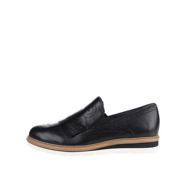 Mocasini negri Tamaris din piele de la Tamaris in categoria pantofi și mocasini