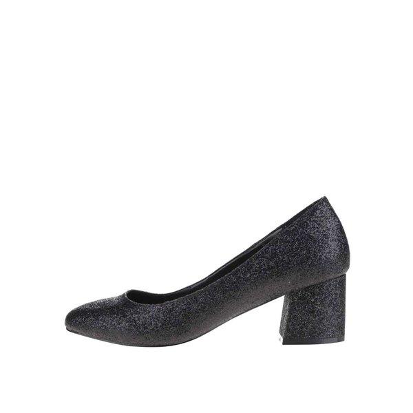 Pantofi negri cu aspect stralucitor Miss Selfridge Capri