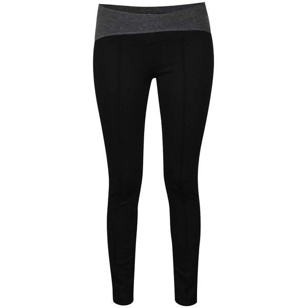 Pantaloni elastici negru & gri melanj Alchymi Situla