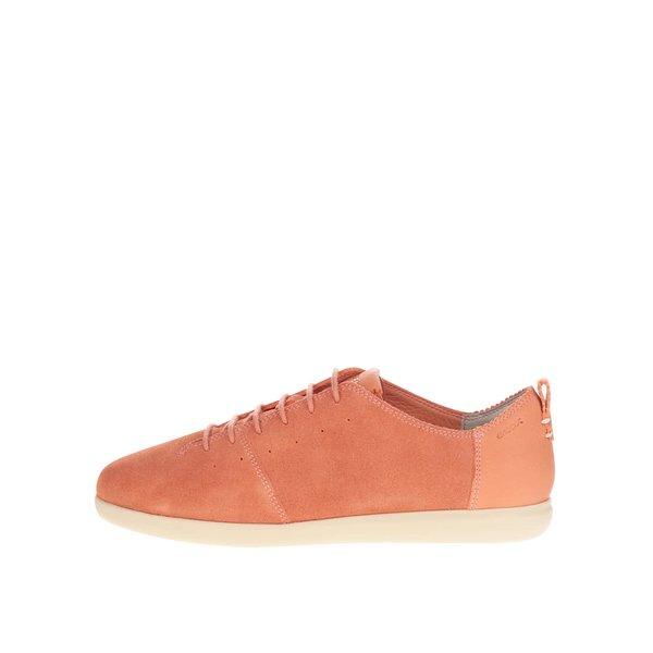 Pantofi sport portocalii Geox New Do C din piele întoarsă