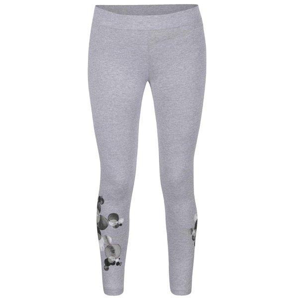 Colanți gri Desigual Lola cu imprimeu de la Desigual in categoria Blugi, pantaloni, colanți
