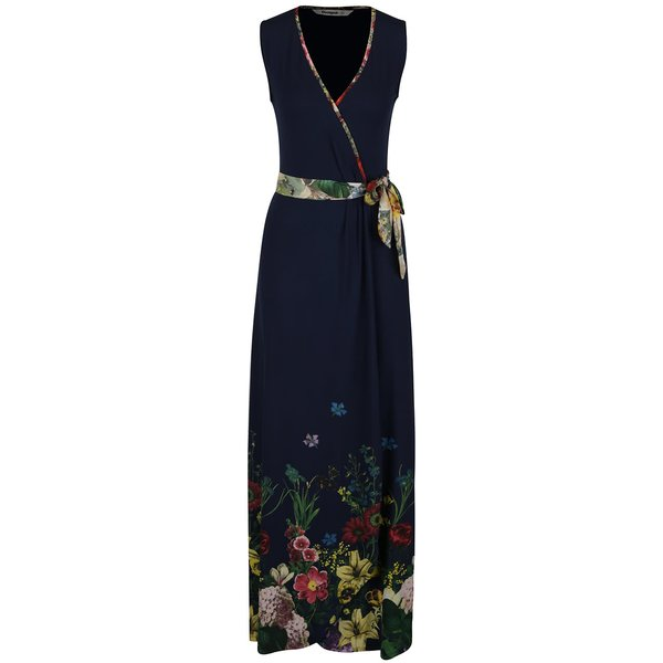 Rochie maxi Desigual Botanical albastru închis de la Desigual in categoria rochii de vară și de plajă