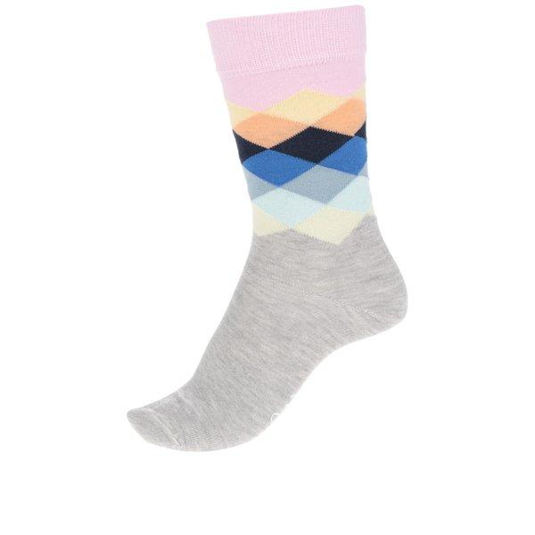 Șosete gri Happy Socks Faded Diamond de la Happy Socks in categoria Dresuri si șosete
