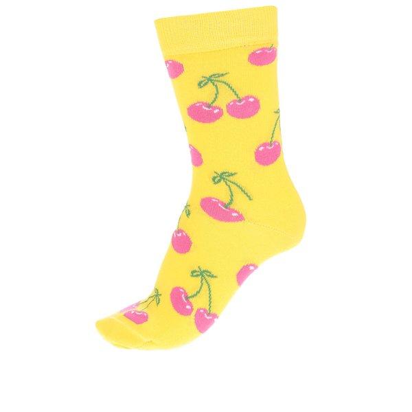 Șosete galbene Happy Socks Cherry de la Happy Socks in categoria Dresuri si șosete