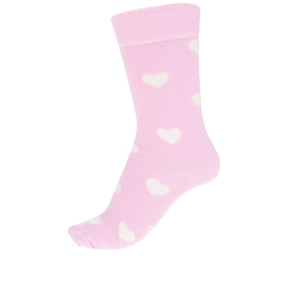 Șosete roz pal Happysocks Heart Sock de la Happy Socks in categoria Dresuri si șosete