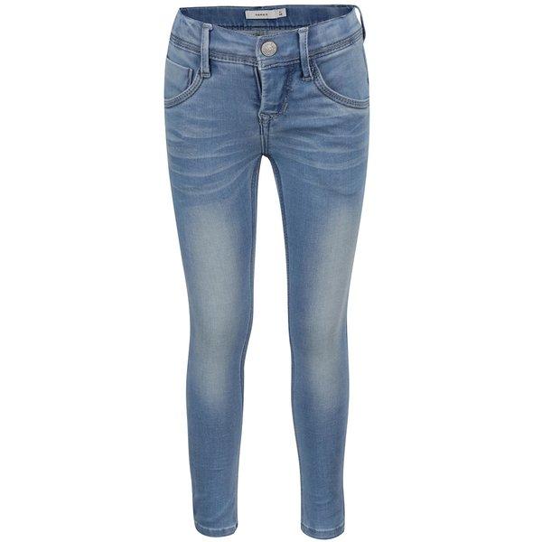 Blugi albastru deschis Name it Sus skinny pentru fete de la name it in categoria Pantaloni, pantaloni scurți, colanți