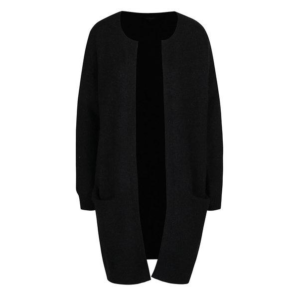 Cardigan negru din amestec de mohair si lana Selected Femme Livana