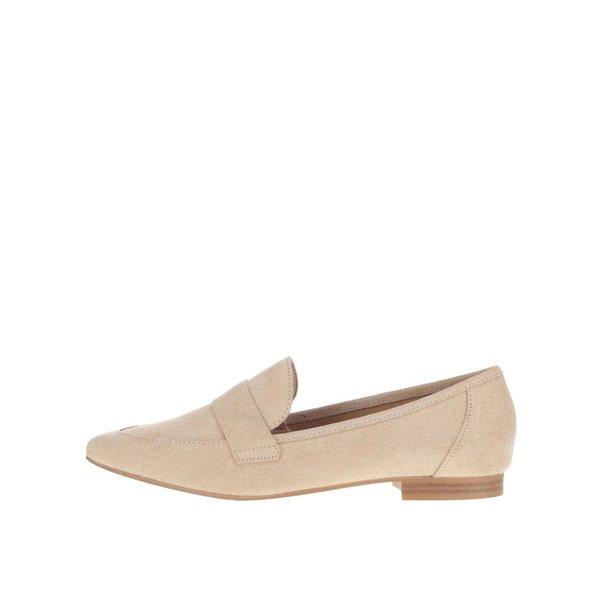 Pantofi loafer bej Pieces Palometa
