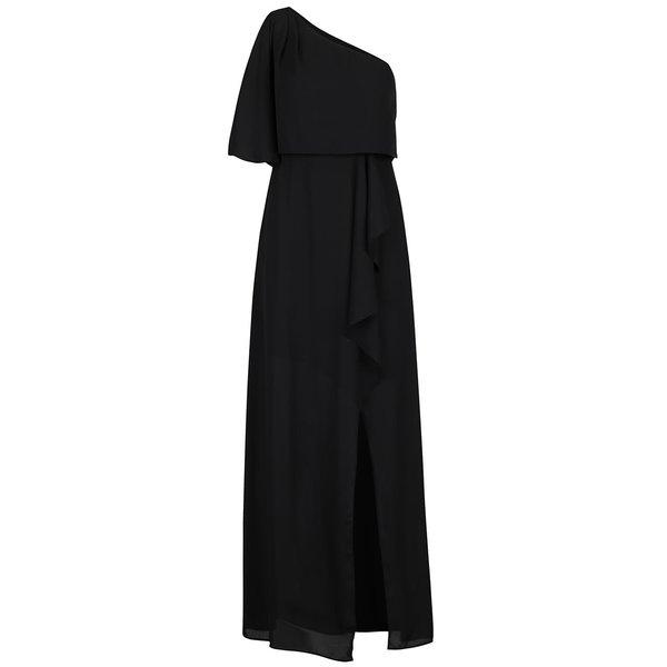 Rochie neagră lungă AX Paris cu decolteu pe umăr de la AX Paris in categoria rochii de vară și de plajă