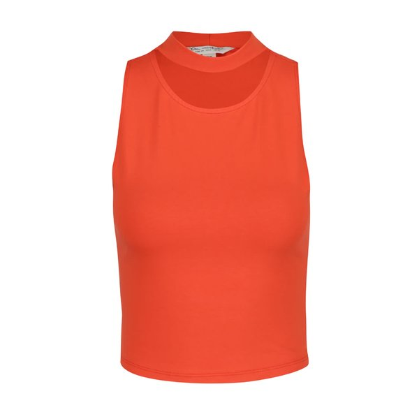 Top crop portocaliu Miss Selfridge