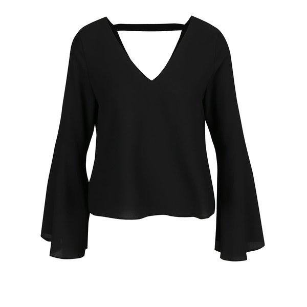 Bluza neagra cu maneci clopot Miss Selfridge