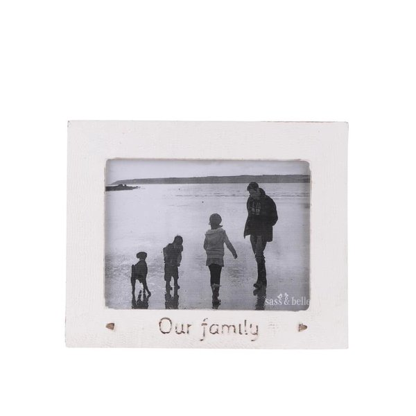 Ramă foto crem din lemn Sass & Belle Our family