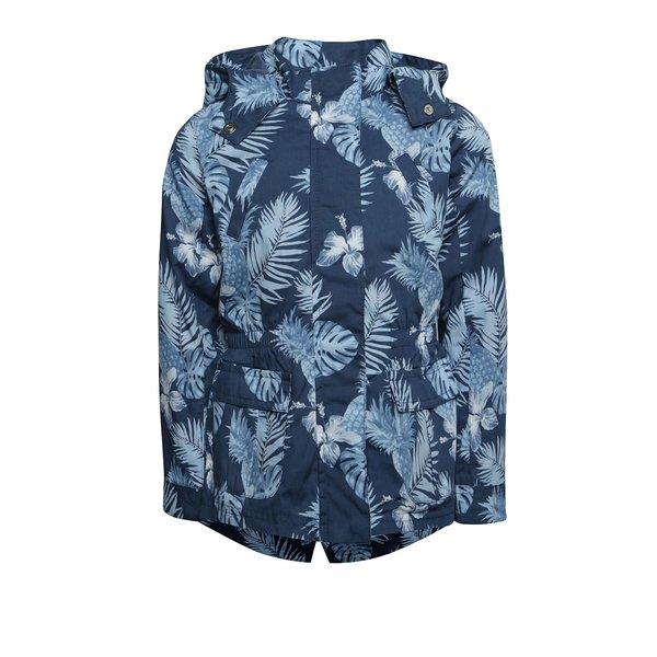 Jachetă parka albastru închis Boboli cu model floral pentru fete de la BÓBOLI in categoria Geci, jachete, paltoane