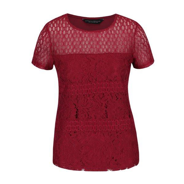 Tricou roșu Dorothy Perkins din dantelă