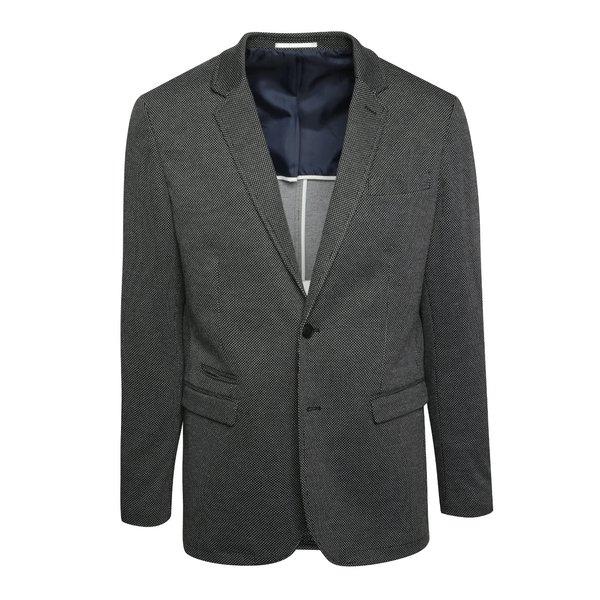 Sacou negru cu model discret Selected Homme One Danny de la Selected Homme in categoria Geci, paltoane, jachete