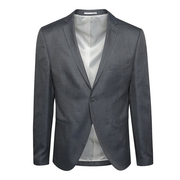 Sacou gri Selected Homme Done-Louame cu model discret de la Selected Homme in categoria Geci, paltoane, jachete