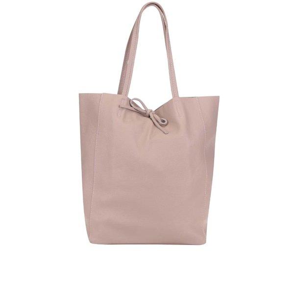 Geanta shopper roz prafuit din piele - ZOOT