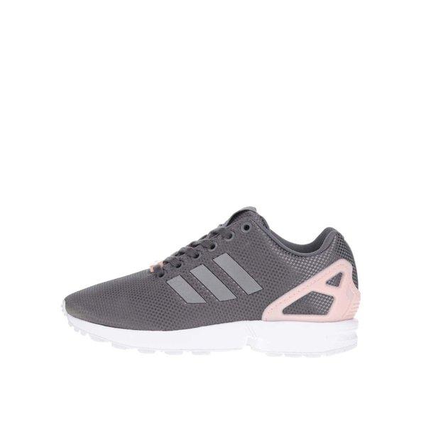 Pantofi sport gri cu roz adidas Originals ZX Flux de la adidas Originals in categoria pantofi sport și teniși