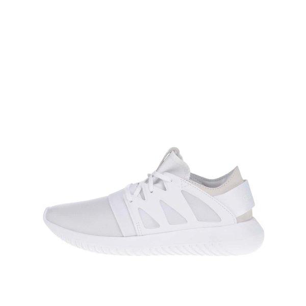 Pantofi sport albi din material textil&piele adidas Originals Tubular