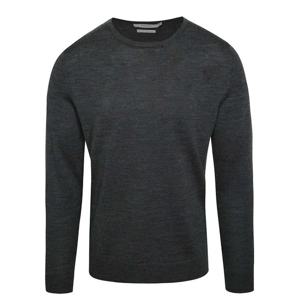 Pulover gri închis Jack & Jones Premium Mark din jerseu