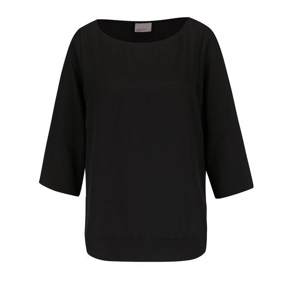 BLuză neagră VERO MODA Cecile cu mâneci 3/4 de la VERO MODA in categoria Topuri, tricouri, body-uri