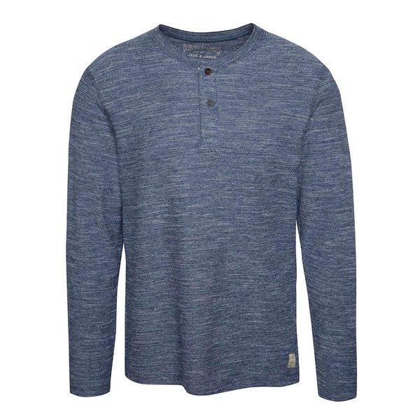 Bluză albastru deschis melange Jack & Jones Sebastian din bumbac de la Jack & Jones in categoria Tricouri și bluze