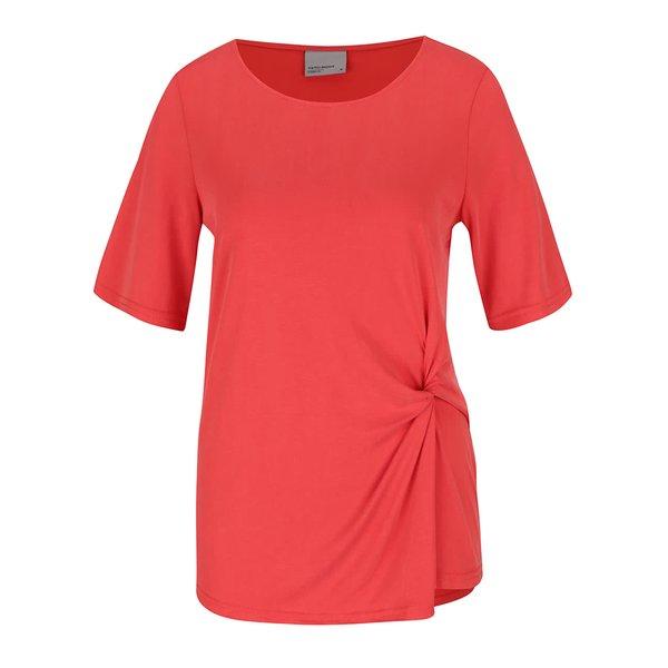 Tricou rosu cu node decorativ VERO MODA Grey