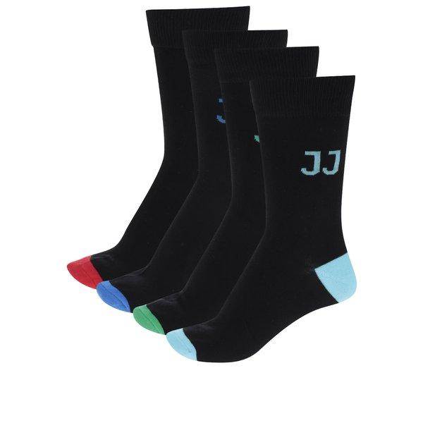 Set cu 4 perechi de șosete negre Jack & Jones Kim
