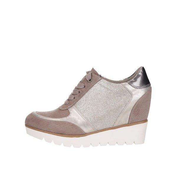 Pantofi sport maro Tamaris cu platformă