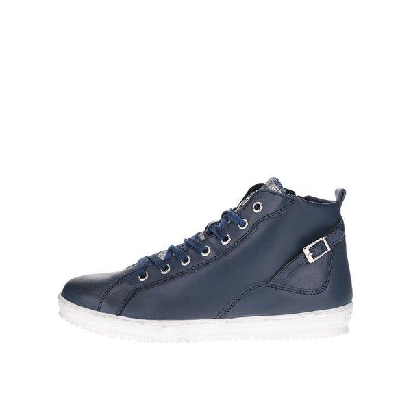 Ghete albastre Tamaris din piele de la Tamaris in categoria pantofi sport și teniși