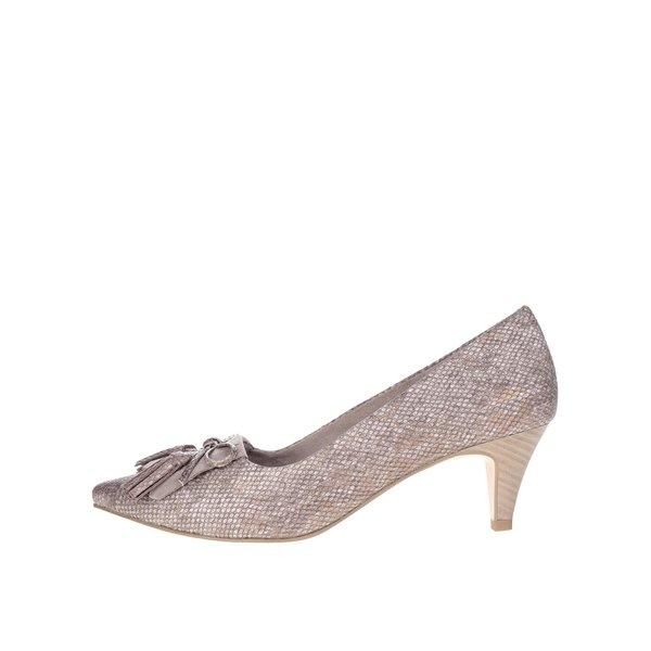 Pantofi maro Tamaris cu aspect metalic de la Tamaris in categoria pantofi cu toc