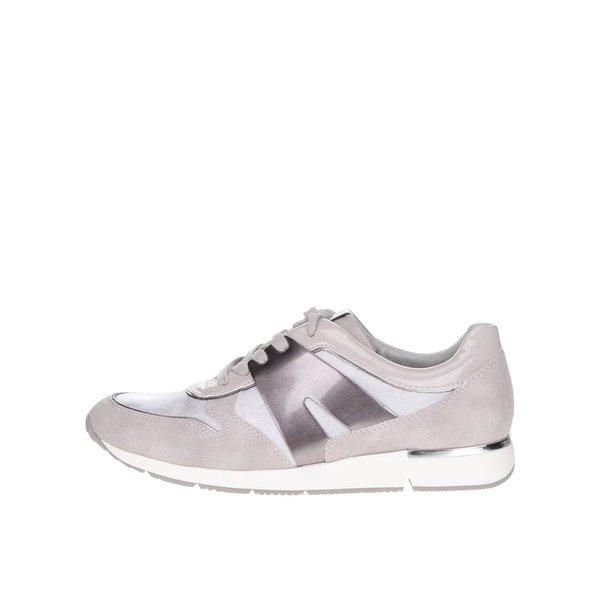 Pantofi sport Tamaris gri cu bej
