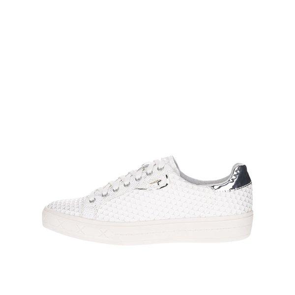 Pantofi sport crem Tamaris cu model și detalii argintii cu aspect lucios de la Tamaris in categoria pantofi sport și teniși