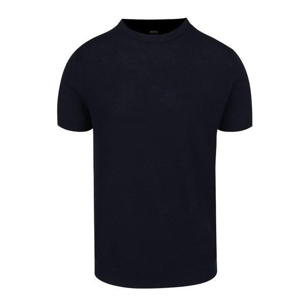Tricou albastru închis Burton Menswear London din jerseu de la Burton Menswear London in categoria tricouri