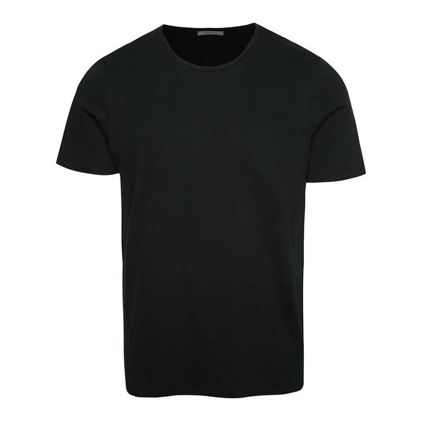 Tricou basic negru Jack & Jones Hugo din bumbac de la Jack & Jones in categoria tricouri basic