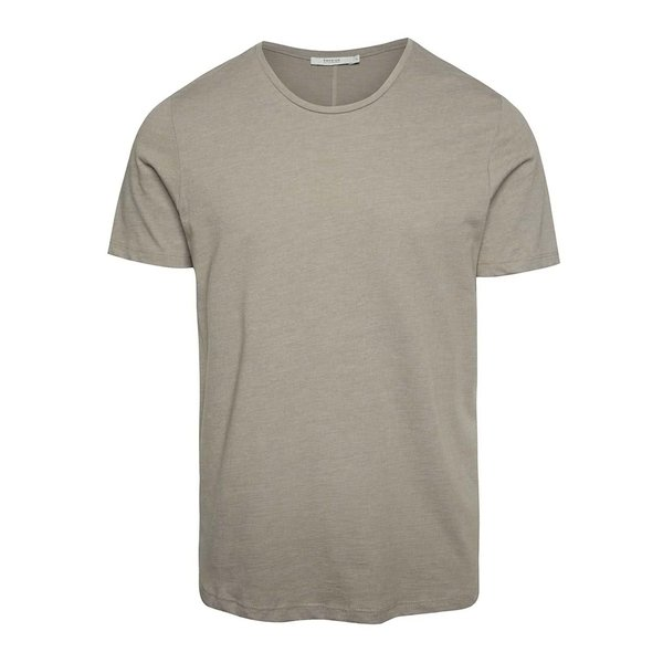 Tricou basic bej Jack & Jones Hugo din bumbac de la Jack & Jones in categoria tricouri