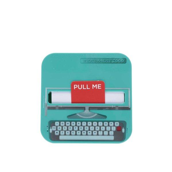 Sticky notes Mustard în formă de mașină de scris