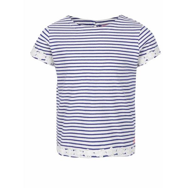 Tricou crem cu albastru Tom Joule pentru fete de la Tom Joule in categoria Tricouri, camasi