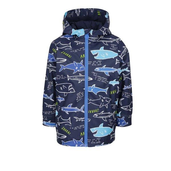 Geacă Tom Joule de băieți albastră impermeabilă cu print de la Tom Joule in categoria Geci, jachete, paltoane