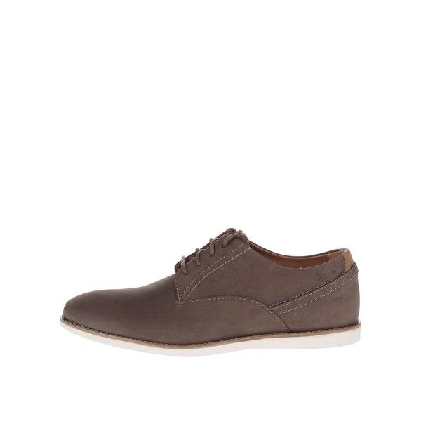 Pantofi maro Clarks Franson Plain din piele întoarsă