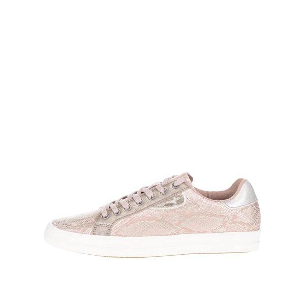 Pantofi sport roz Tamaris cu aspect peliculizat de la Tamaris in categoria pantofi sport și teniși