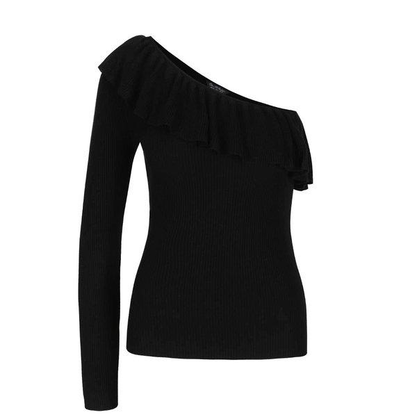 Bluză neagră Miss Selfridge cu decolteu pe umăr