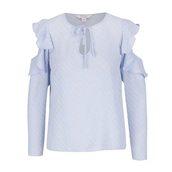 Bluză albastru deschis Miss Selfridge cu model texturat