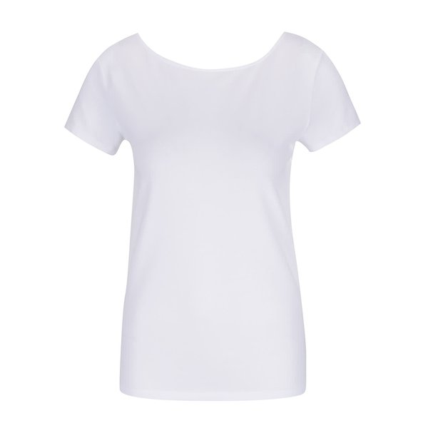Tricou alb cu barete încrucișate ONLY Live