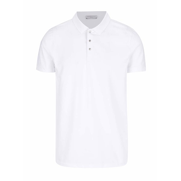 Tricou polo alb Selected Homme Damon