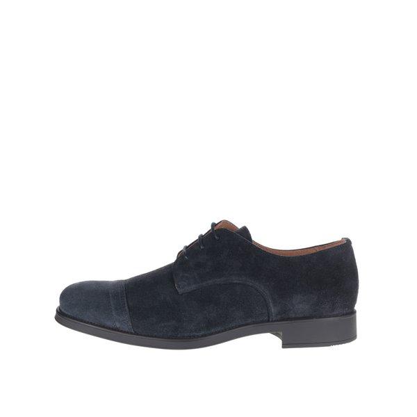 Pantofi albastru închis Selected Homme Oliver din piele întoarsă de la Selected Homme in categoria pantofi și mocasini