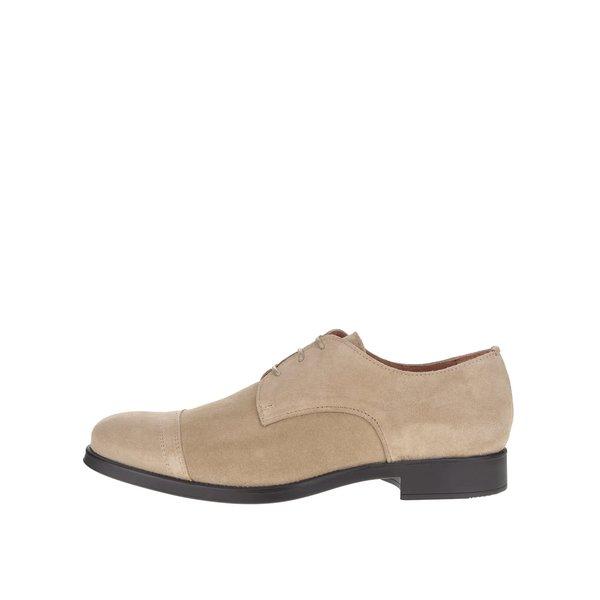 Pantofi bej Selected Homme Oliver din piele întoarsă de la Selected Homme in categoria pantofi și mocasini