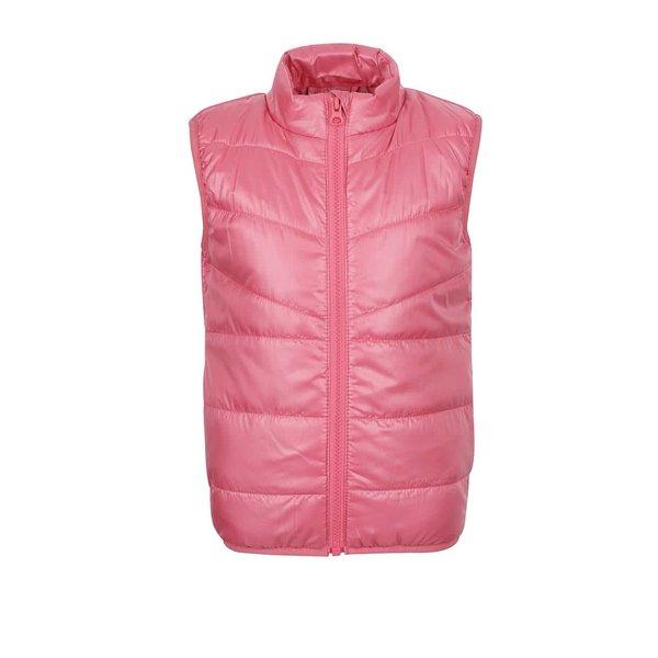 Vestă matlasată roz name it Mylan pentru fete de la name it in categoria Geci, jachete, paltoane