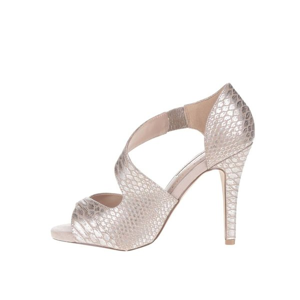 Sandale argintii Miss KG cu călcâi acoperit