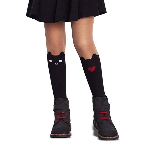 Dresuri negre Penti Sweet 30 DEN cu model pentru fete de la Penti in categoria Sosete, dresuri